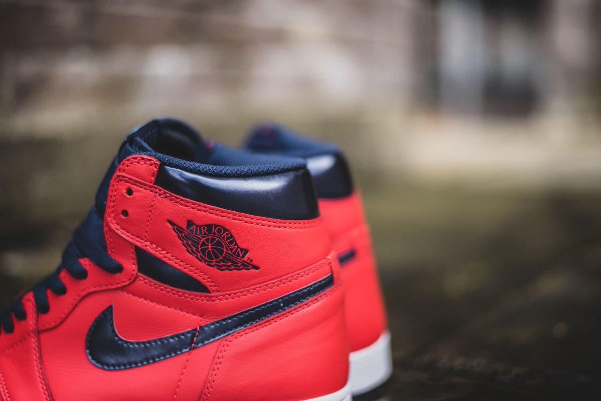 """332b7abeddca8a Nike Air Jordan 1 High """"Light Crimson"""" launches ONLINE Sat 30th Apr  08 00GMT  hanon ..."""