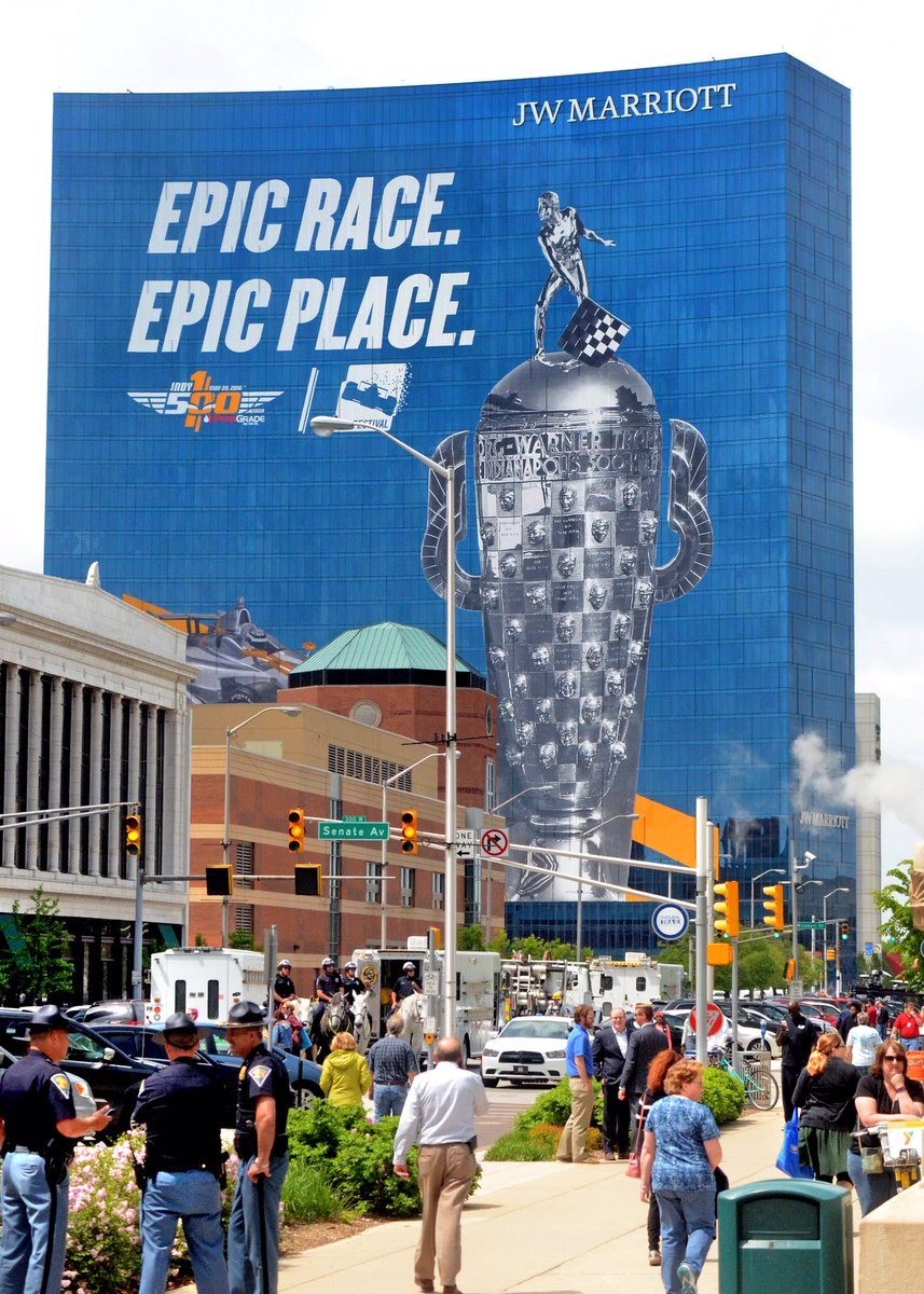 City of indy a beautiful sight as nation looks on: prez primary, Pacers playoff, upcoming 100th Indy500. @IndyDT