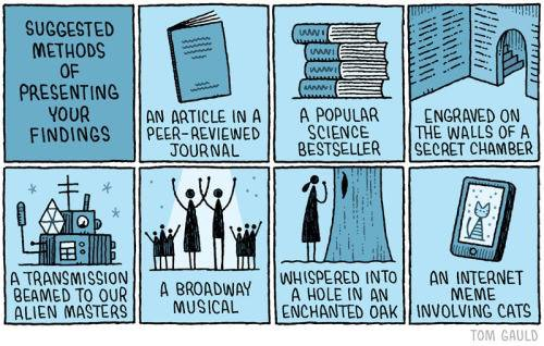 Thanks to @tseenster for this one: suggested ways to disseminate your research findings :-) #phdchat https://t.co/NZyKloRCxg