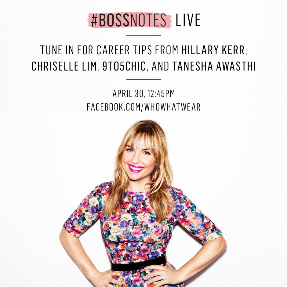 Watch our must-see broadcast LIVE tomorrow with @HillaryKerr, @ChriselleTweets, @9to5Chic, and @TaneshaAwasthi. https://t.co/l6OhcHjf1O
