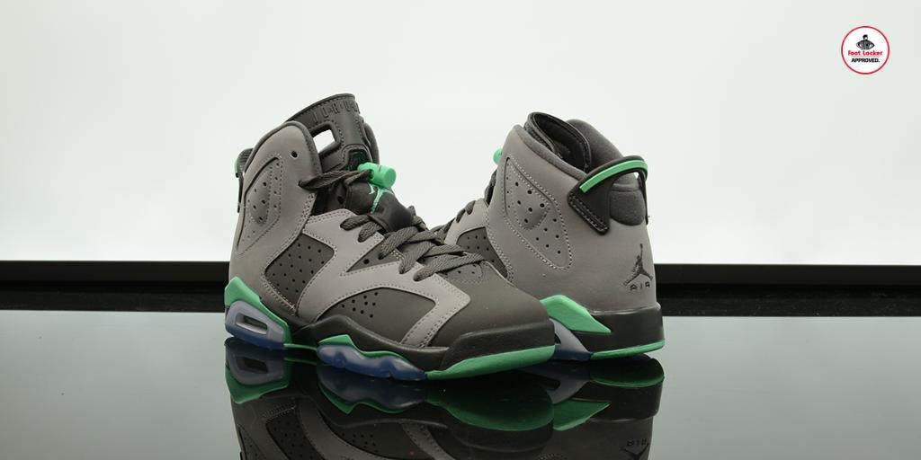 ... real foot locker on twitter the kids air jordan 6 retro green glow drops  online tomorrow ea3ff12b4