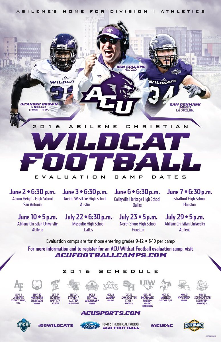 Acu Football On Twitter The Acu Coaching Staff Is Hitting The Road