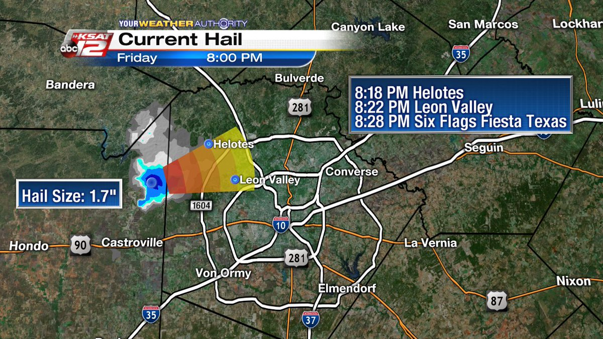San Antonio Weather Map Radar.Ksat 12 Weather On Twitter Hail Tracker Showing Radar Over 1