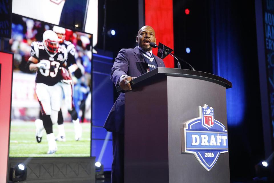 Kevin Faulk made a statement at the NFL Draft