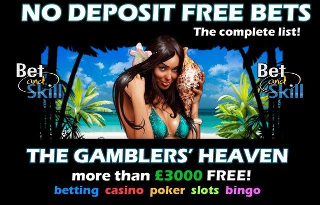 Free Bet No Deposit Casino & Sports