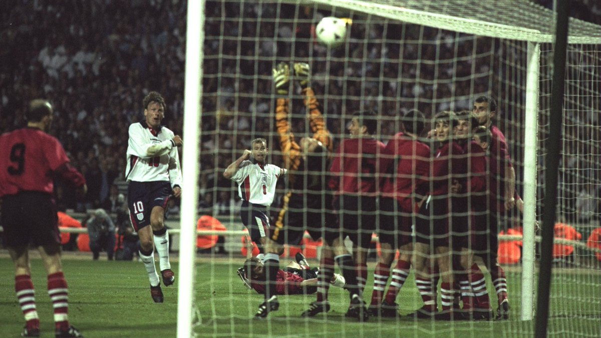 """England בטוויטר: """"#OnThisDay in 1997, Teddy Sheringham and ..."""