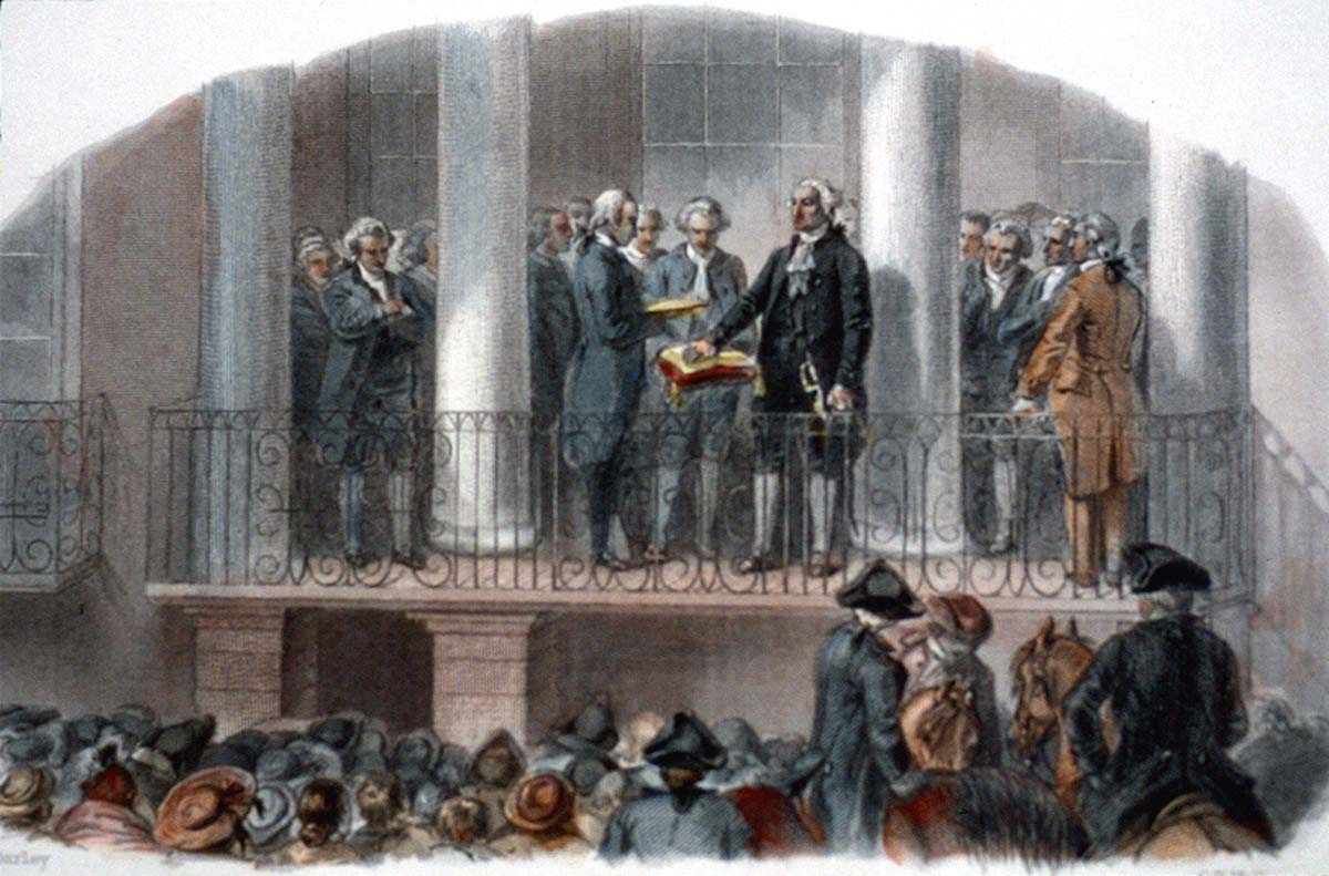 April 30, 1789, George Washington is inaugurated as the first president of the United States in New York City. https://t.co/XnmkyuYKd7