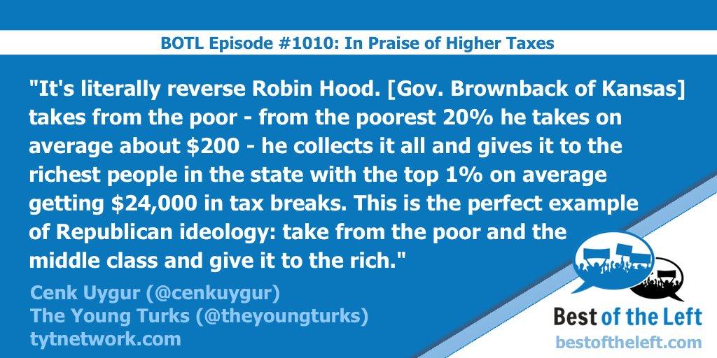 """.@cenkuygur on Republicans' """"reverse Robin Hood"""" tax ideology @TheYoungTurks #BestoftheLeft https://t.co/kfxtTGmtWa https://t.co/Vzbhz1GQHH"""