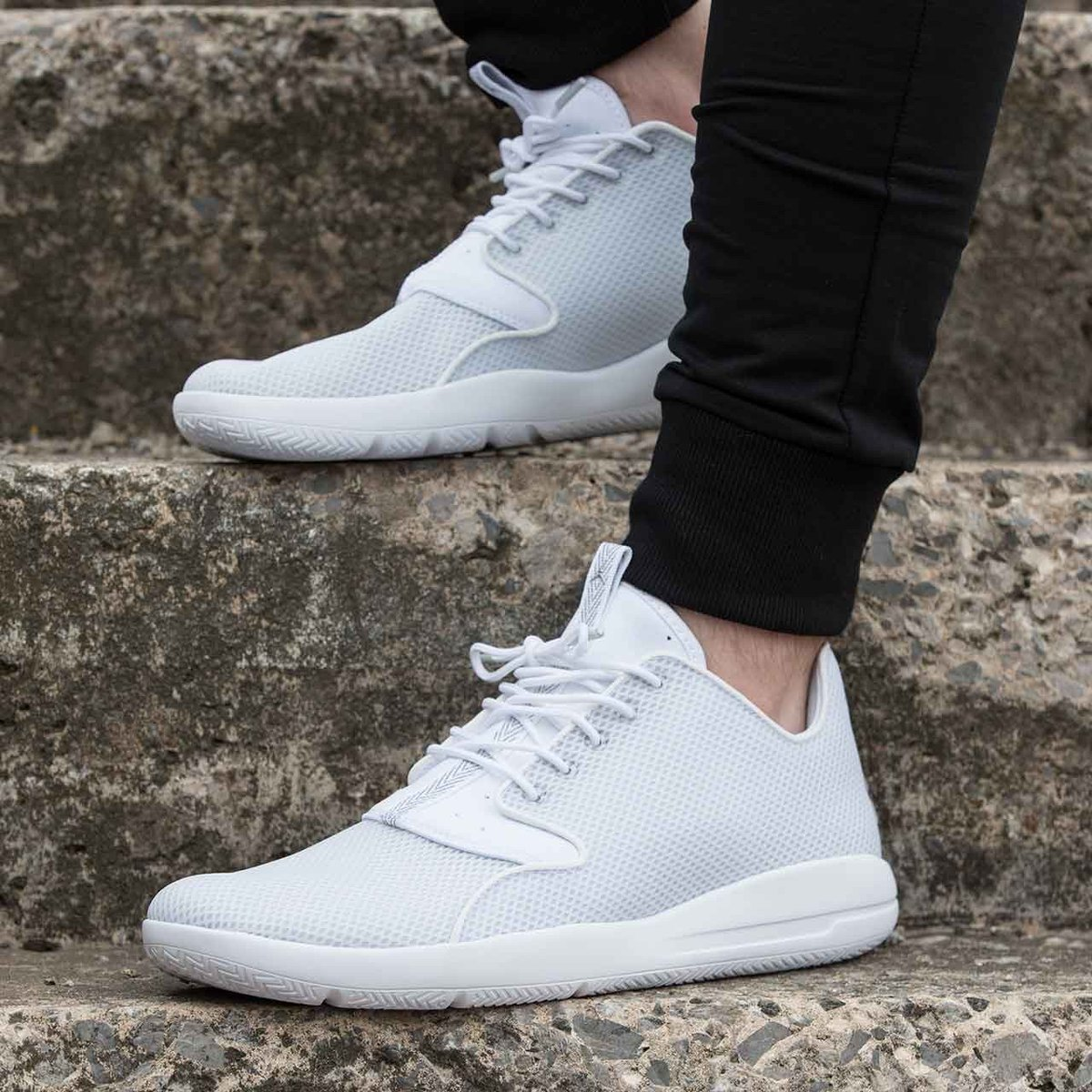 separation shoes f527b 37f8d ... coupon code for footasylum on twitter add the jumpman23 jordan air  eclipse trainer in white platinum