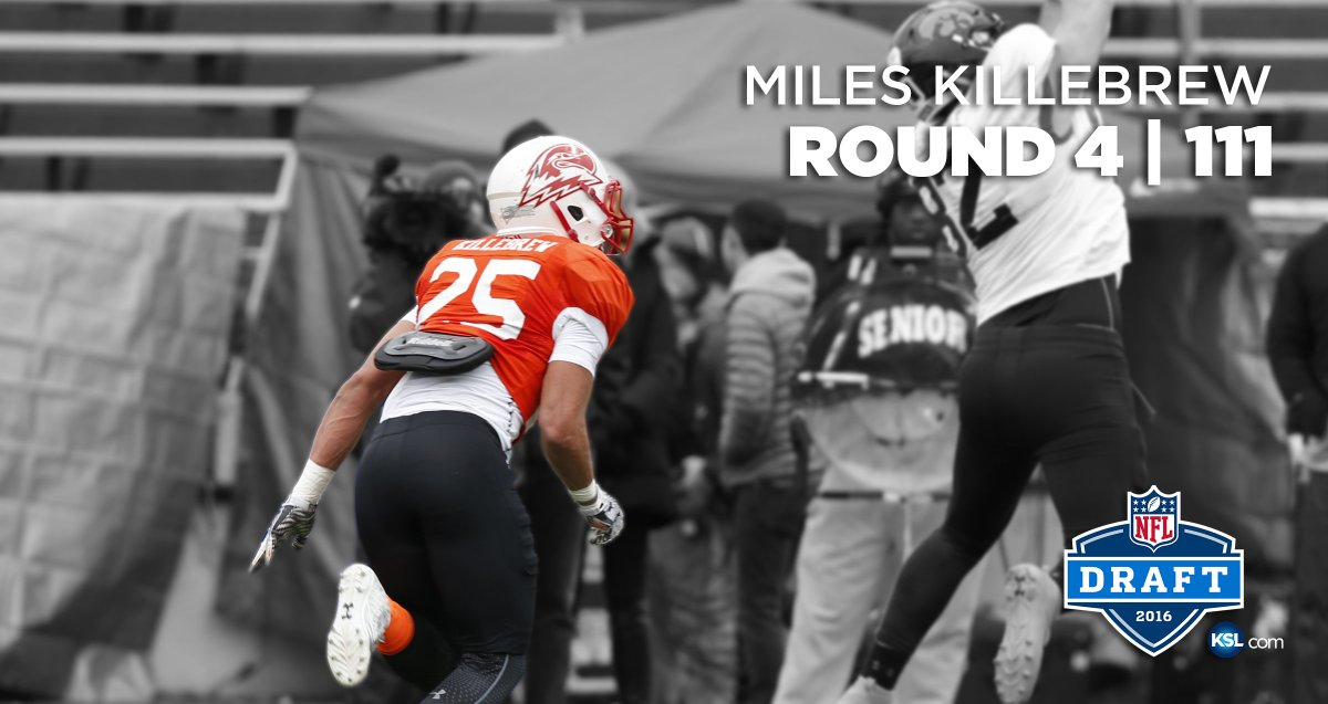SUU S Miles Killebrew drafted in the 4th round by the @Lions. Read: https://t.co/7EMOZs0zq8 https://t.co/0VCx90poSH