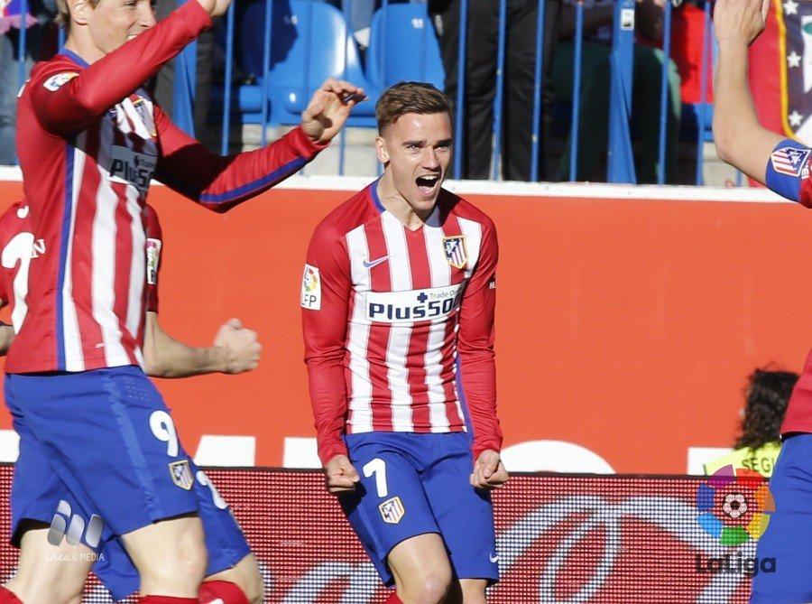 Liga BBVA: Atletico Madrid Rayo Vallecano 1-0, gol di Griezmann