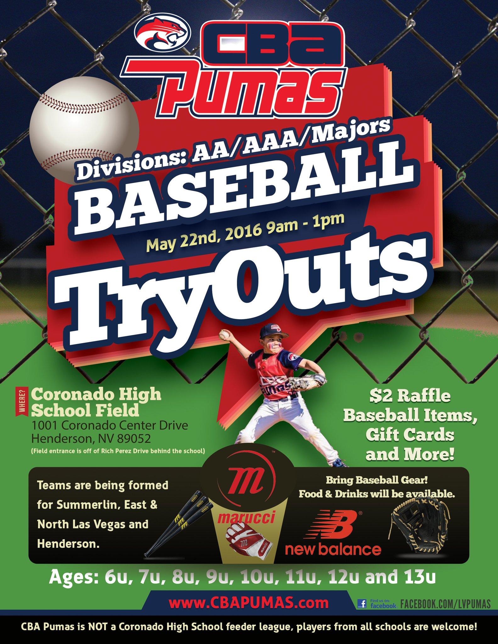 Jay Matos On Twitter Cba Pumas Baseball Tryouts May 22 9am 1pm