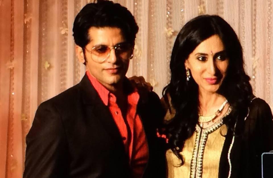 Karanvir Bohra with wife Teejay Sidhu at Karan-Bipasha Wedding reception