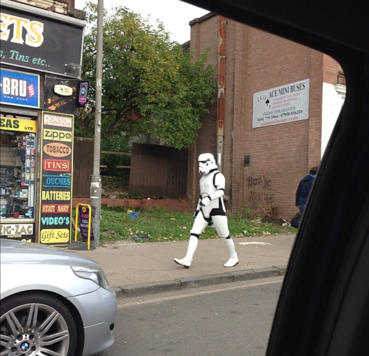 That time I saw a stormtrooper walking down the Gallowgate https://t.co/jG8JaqCybc
