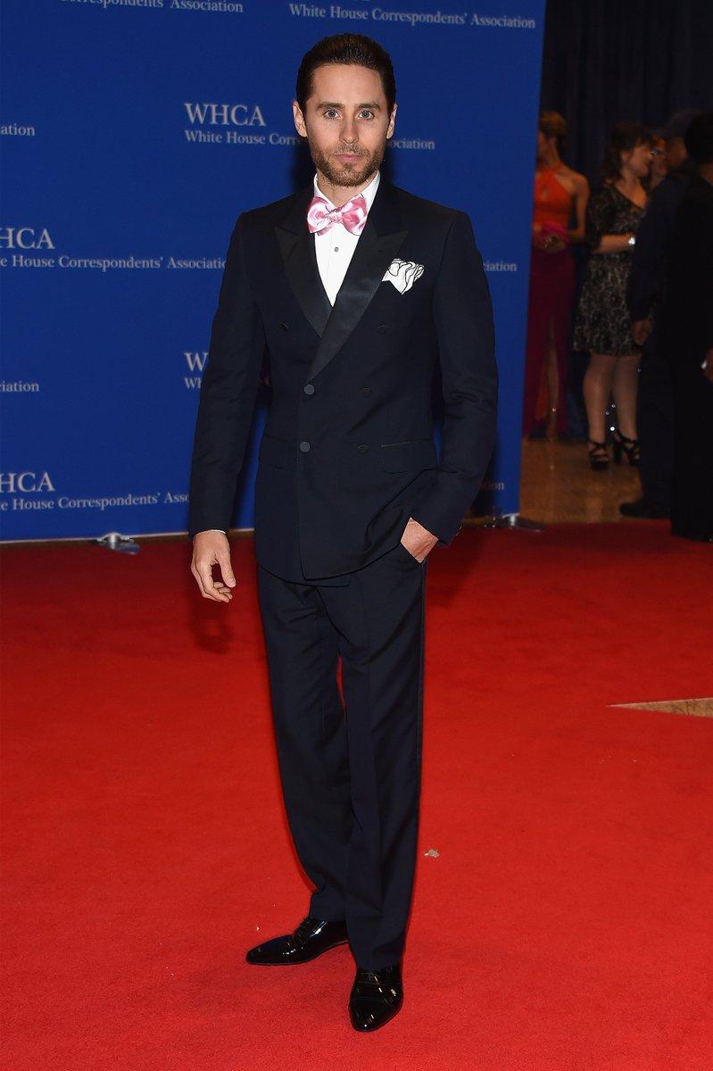 Loving @jaredleto's pink bow tie!  WHCD