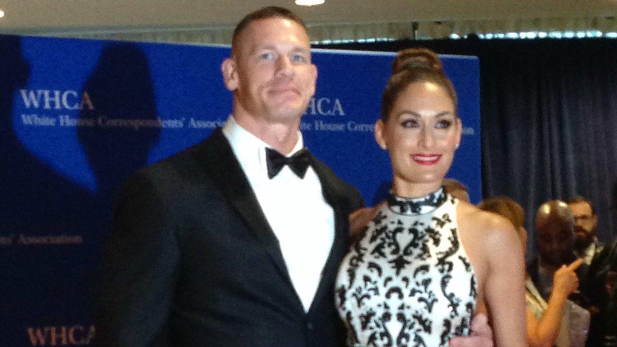 John Cena i Nikki Bella na uroczystości u prezydenta