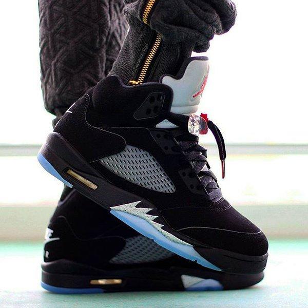 low priced 3ed17 f5afc spain air jordan 5 black metallic on foot 9d6a2 b4342