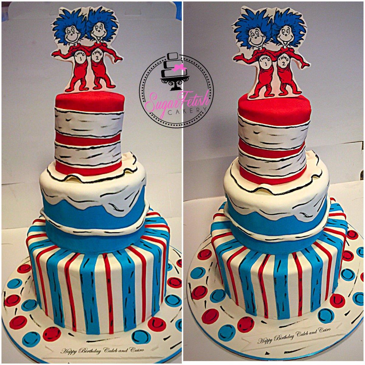 Fine Sugar Fetish Cakery On Twitter Dr Seuss Thing 1 Thing 2 Cake Funny Birthday Cards Online Necthendildamsfinfo