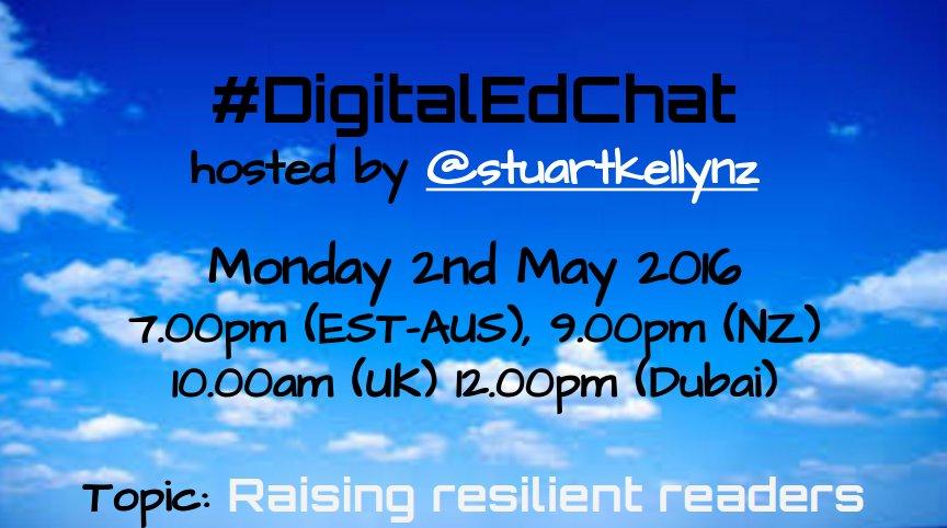 #digitaledchat is back. Join us! Global tweeters welcome. #aussieED #includEDau #edchatNZ #asiaedchat #ukedchat https://t.co/vUOcWHzybE