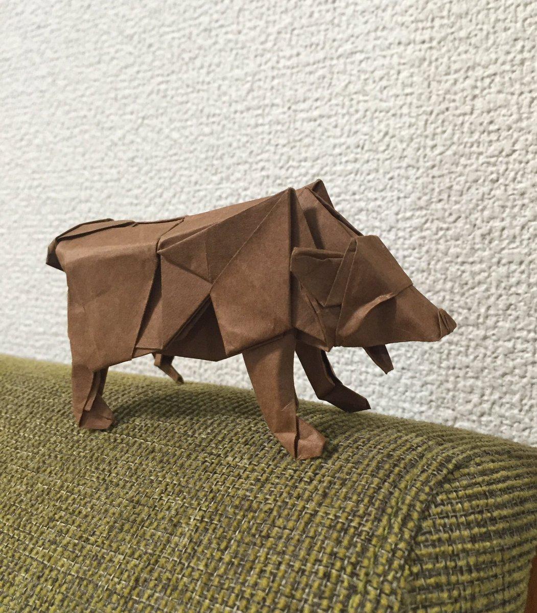 クマ 折り紙 くまを折り紙で簡単に折る方法!かわいいプーさんやくまもんも