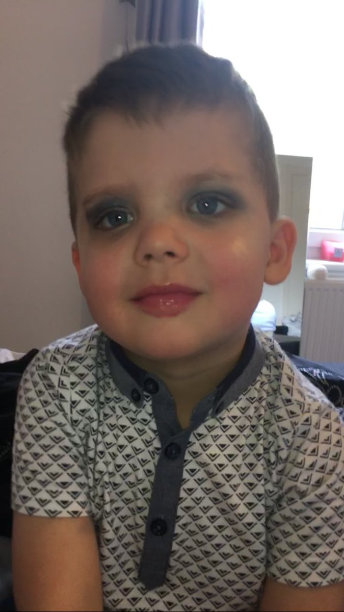 """r🌦 on twitter: """"my little brother asked me to put makeup on him"""