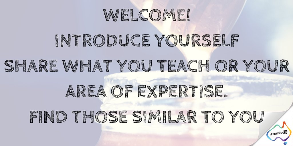 Welcome! Introduce yourself, share what you teach. Grade & subjects. Find those who teach the same as you #aussieED https://t.co/8jq3v0jm3k