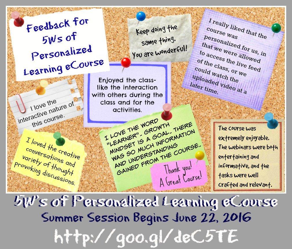 Summer Session: 5 W's of Personalized Learning eCourse -https://t.co/2Og8zIZBQZ #AussieEd #finnedchat #edchatNZ https://t.co/6rmei2KO2n