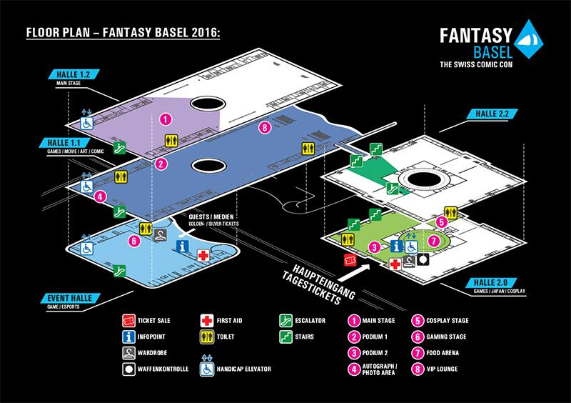 Lageplan Fantasy Basel