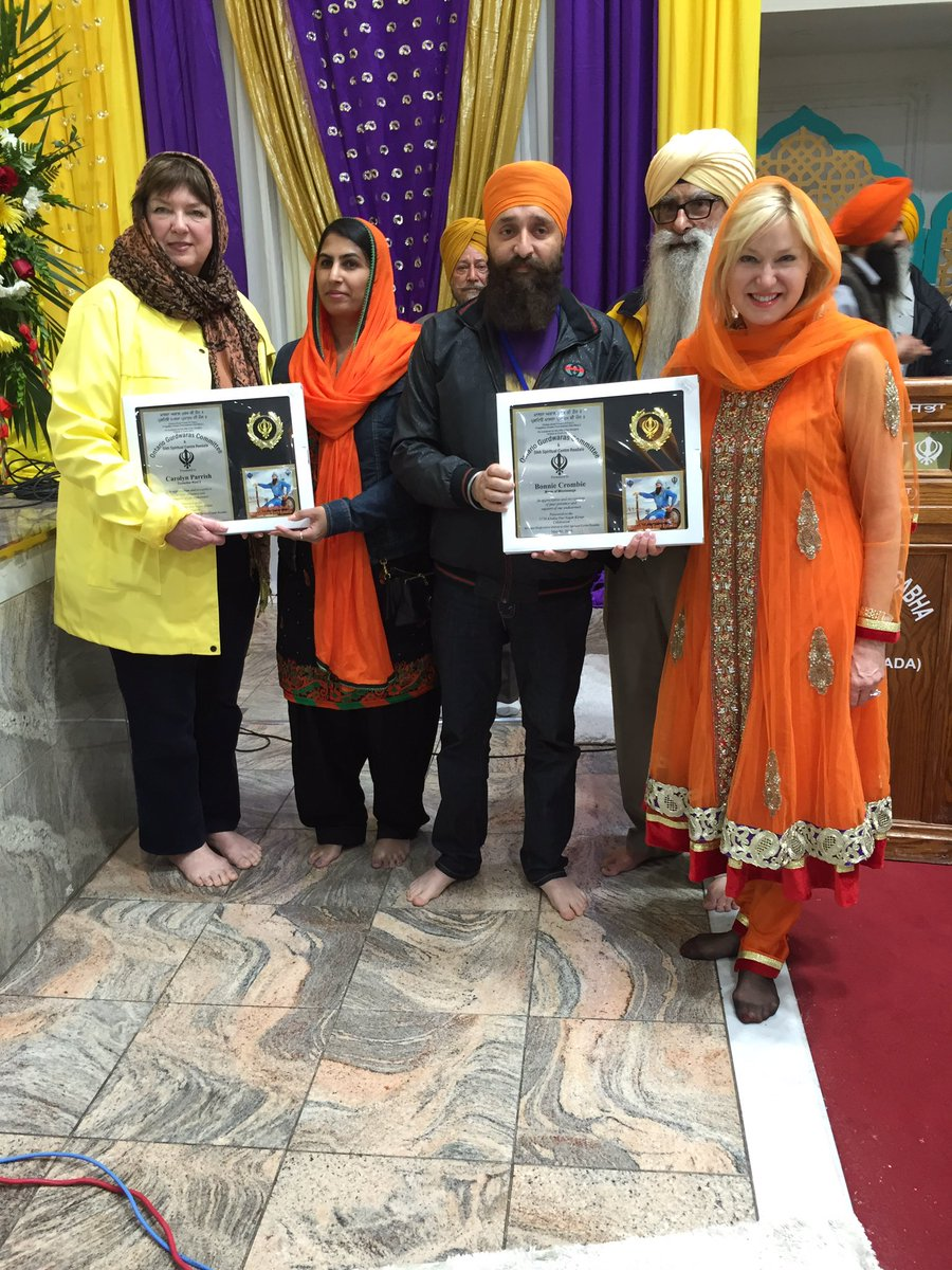 Celebrating #Vaisakhi2016 at Sri Guru Singh Sabha, Malton Gurdwara. with @carolynhparrish #Vaisakhi diyan vaadiyan