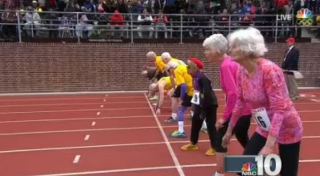 100-year-old woman finishes race in Penn Relays