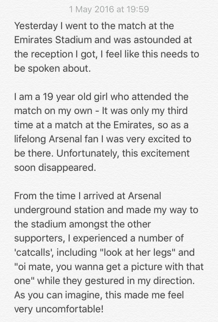 If you're a football fan, I'd like you to see this: Some thoughts I'd like to share from the Arsenal game yesterday https://t.co/RXHuWDo7By