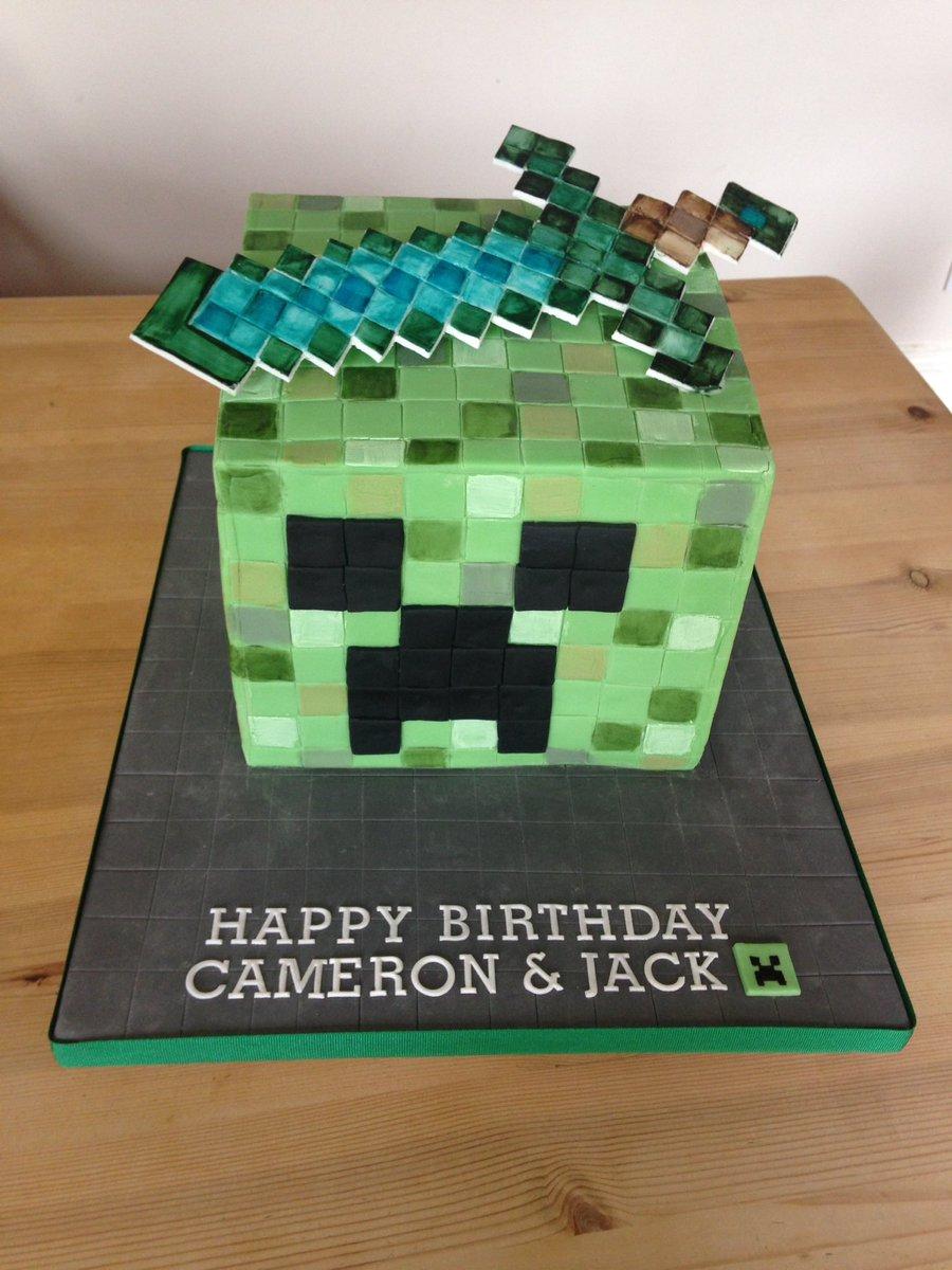 Sarah Kennedy On Twitter Creeper And Diamond Sword Cake Braesidecakery Stampylongnose Minecraft
