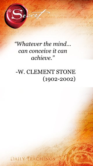 what the mind can conceive the mind can achieve