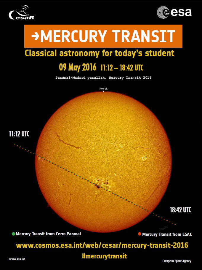 Tomorrow the #MeetESO team will be at @esa CESAR #MercuryTransit project at @ESO in Paranal: https://t.co/v2JWOukm2w https://t.co/nnRQCvlvN3