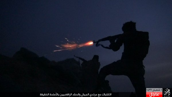 ISIS attack Iraq-i Army positions at Makhoul mountains