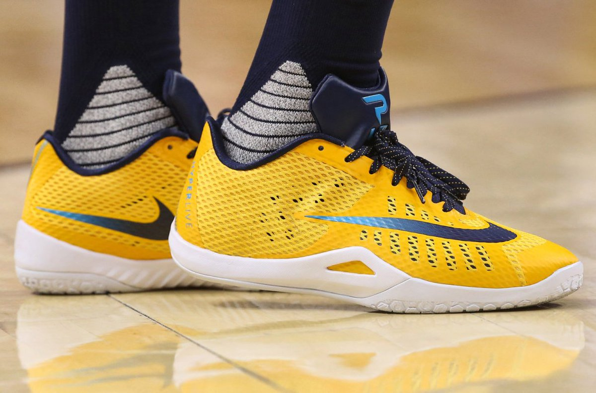 ba1ffbef397c ... uk kicksoncourt pacers paul george in a nike hyperlive pe for game  5f4ce baee0