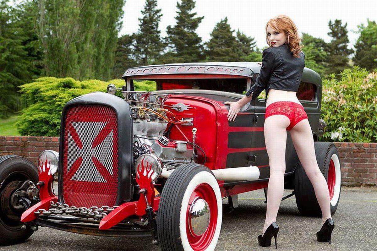 Women With Classic Hot Rods High