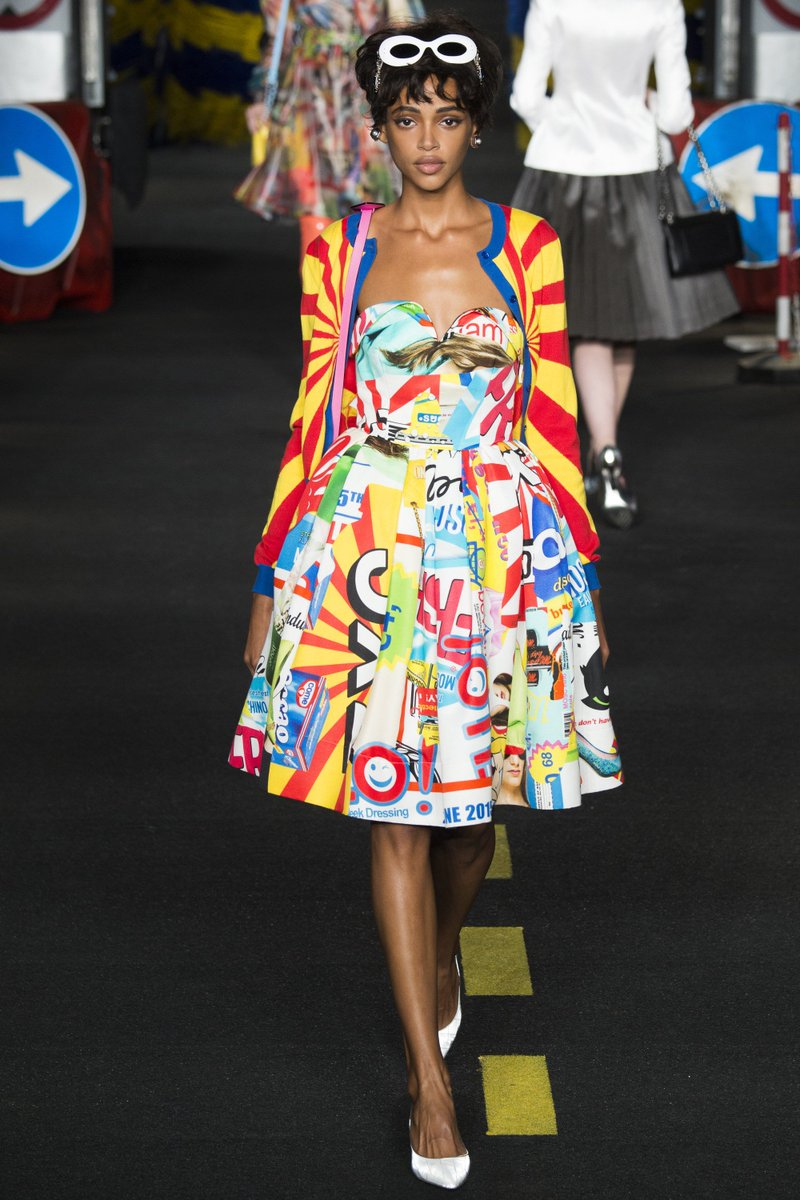 Jenna Ortega Wore A Moschino Spring 2016 Printed Fit And