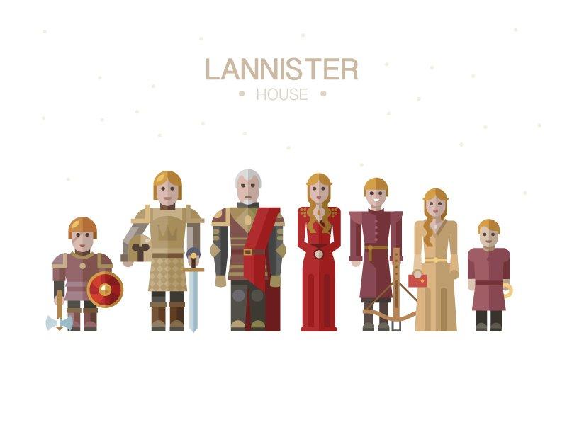 Another illustration - Lannisters this time.  #lannister, #cersei, #jaime, #tyrion, #flatdesign, #illustration https://t.co/WlELkRlwOw