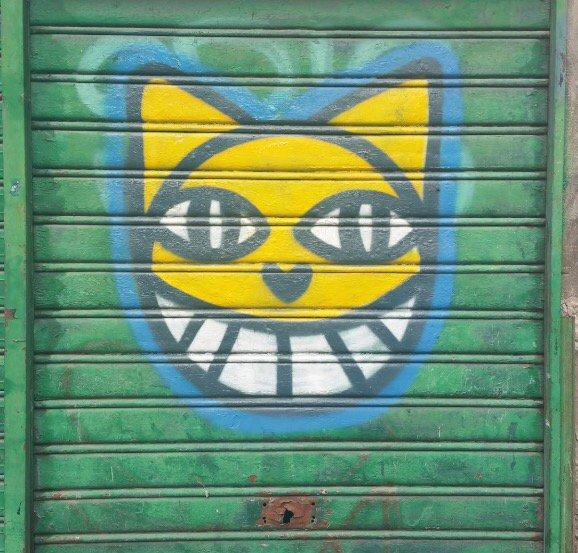 Die Grinsekatze... #Graffiti