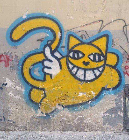 Noch eine Grinsekatze... #Graffiti