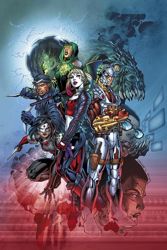 Who wants to see the @JimLee @ScottW_inks @Sinccolor cover for August's SUICIDE SQUAD #1 then? https://t.co/jCV5ixDdcL