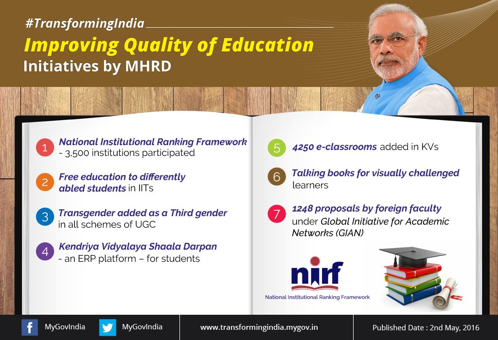 how to improve quality of education A review of research on higher-education policies on affirmative action, financial aid, private education, and vocational education identifies gaps in research on improving access and quality in india, university enrolment has grown from 10 to 23 million from 2000 to 2013, and so has interest in improving access and quality.