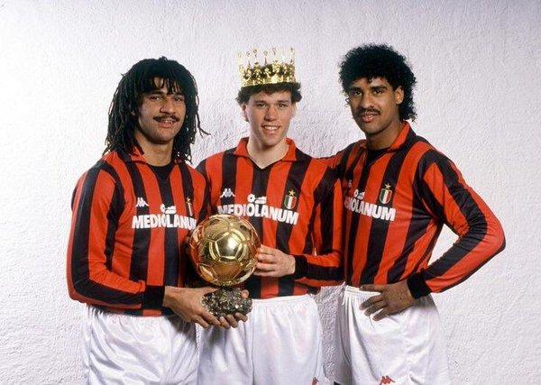 Ruud Gullit Marco Basten Frank Rijkaard trío ases holandeses Milan ...