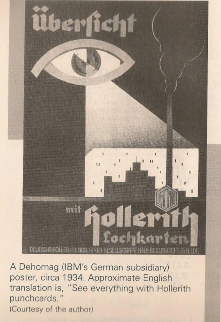 Nazi punchcard data surveillance ad mentioned by @katecrawford in her brilliant #rpTEN talk https://t.co/ByTavKEhkK