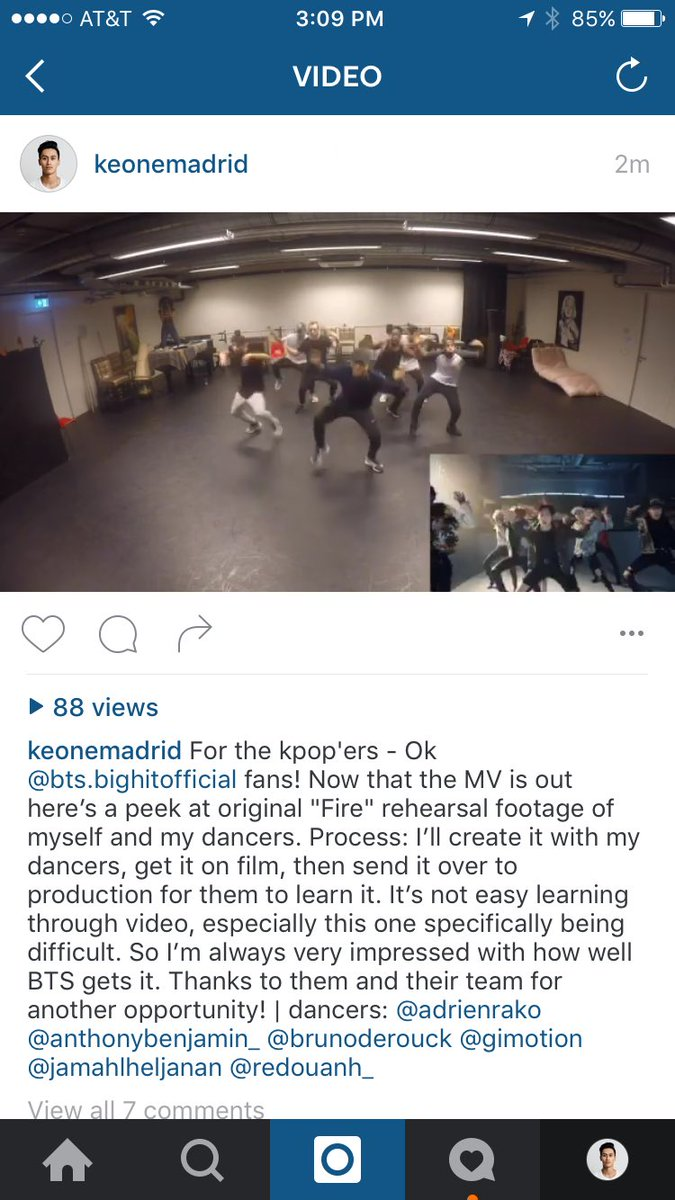 """.@BTS_twt fans -- a """"Fire"""" choreo snippet for you over at https://t.co/MdeMQgG07w https://t.co/RoH7S6OaQg"""