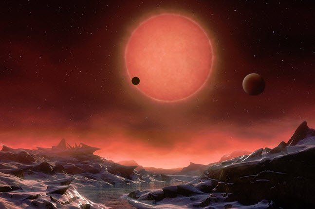 Astronomers find three potentially habitable planets 40 light-years from Earth https://t.co/4l2ElCZ77L https://t.co/Qt4dC4odhD