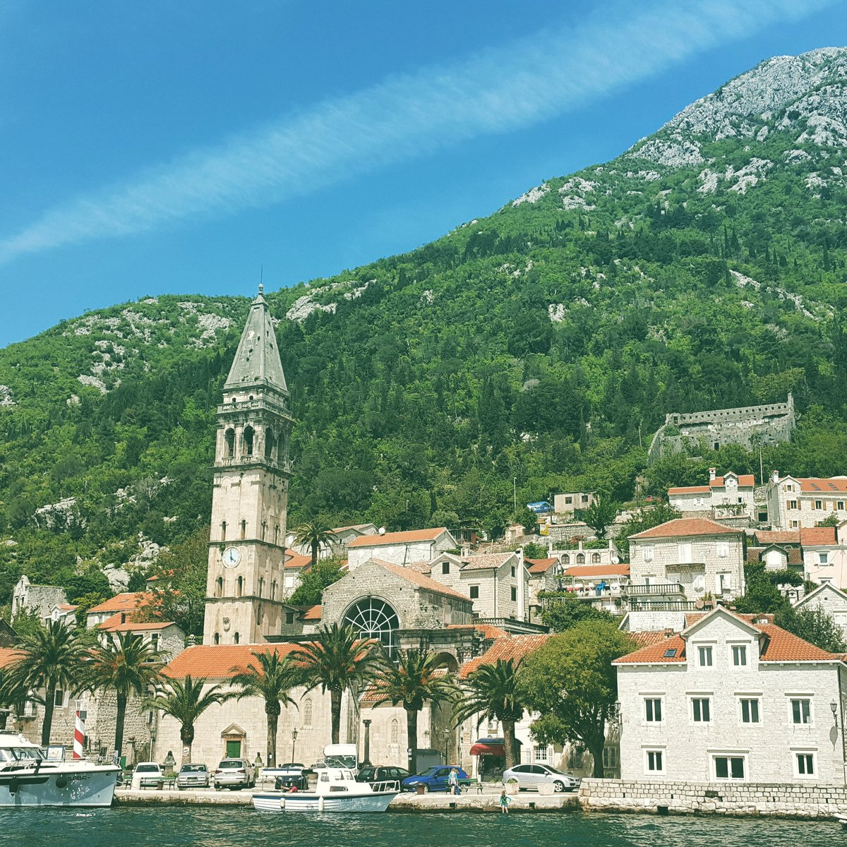 Perast by boat. Couple of days ago. #MontenegroAdventures https://t.co/IwYEGu9iID