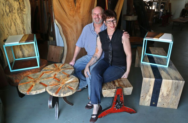 Tampa Bay woodworkers use local trees to make furniture and art