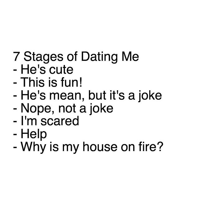Stages of Dating Me Shes pretty This is fun!